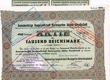 Gemeinnützige Baugesellschaft Mariengarten AG, Berlin 1931, 1000 RM, ungelocht,