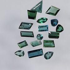 8.8 cts blue green tourmaline mixed facted cut lot brazil