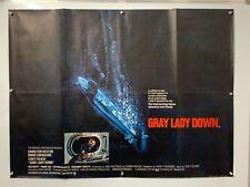 GRAY LADY DOWN Charlton Heston ORIGINAL UK BRITISH QUAD CINEMA poster