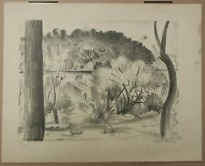 Lithographie Originale Paysage Saint Mandrier HENRI VERGÉ-SARRAT 1925