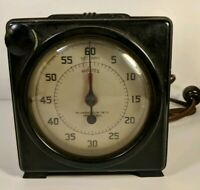 Vintage Standard Electric Time Type S-60 Precision Timer Stopwatch Clock Works