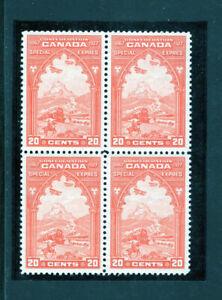 Canada E3 VF og NH block, CV $280