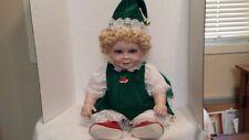 "Legacy Terri Dehetre Porcelain 20"" Christmas Daisy Doll , 1989, w/box"