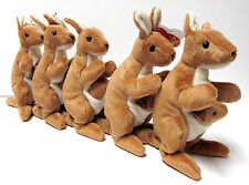 """Ty Beanie Baby  """"Pouch"""" Kangaroo w/baby, MINT Tags - 5th 'Swing' / 6th 'Tush'"""