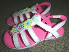 New listing Big Girl's Smartfit White/Pink Flower Sandals Sz 2