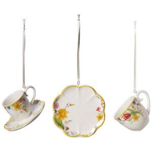 Villeroy & Boch Spring Awakening Ornamente Set 3tlg. Deko Hänger Frühling Ostern
