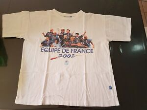 T-Shirt Football France 2002 (vintage d'époque) L
