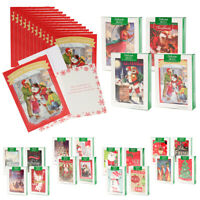 48pk Merry Christmas Cards Bulk Assortment Holiday Card Pack with Foil & Glitter