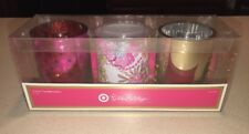Lilly Pulitzer for Target Glass Votive Candle Holders (Set of 3) NIB Palm Beach