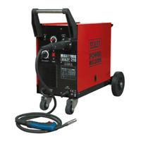 Sealey MIGHTYMIG210 Gas/No Gas Mig Welder 210Amp with Euro Torch