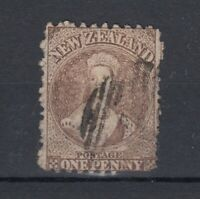 New Zealand QV 1871 1d Brown SG126 Used J5948