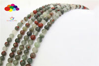 Loose Charm 4/6/8/10/12mm Natural Agate Gemstone Beads Round Jewelry TRBS097