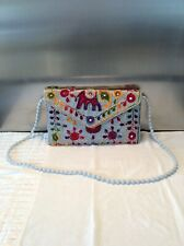 Brand New Ladies Embroidered Decorative Shoulder Bag Multi Coloured New