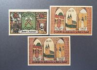 FROSE NOTGELD 25, 2x 50 PFENNIG 1921 EMERGENCY MONEY GERMANY BANKNOTES (8448)