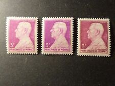MONACO 1946, VARIETE timbre 282, PRINCE LOUIS II, neufs** MNH STAMPS VARIETY