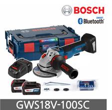 "Bosch GWS 18V-100 SC Angle Grinder 4"" Brushless 1000W Kickback IoT 2x6.3Ah /UPS"