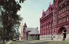 Burlington Vermont~University~College Row~1950s Postcard