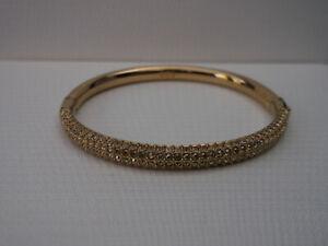 Genuine SWAROVSKI Crystal STONE MINI Bangle Bracelet - GP