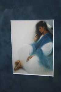 """Ozz Franca """"Blue Tranquility"""" Print by Leanin' Tree"""