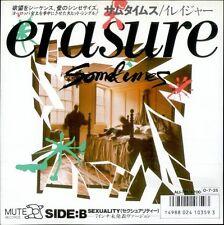 Erasure, Sometimes, NEW/MINT Japanese import jukebox 7 inch single w/lyric sheet