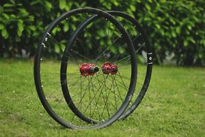 "Handbuilt Carbon 29""Wheelset Novatec Hubs Zero Two Rims Sapim Race Spokes"