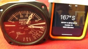 United Instruments Manifold & Fuel Pressure Gauge, P/N: 6331, Code H55 Piper