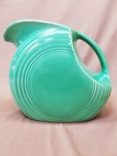 "Vintage Fiesta Ware Light Original Green Large Disc Pitcher 7-1/2"" 70oz 1938-69"