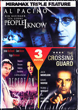 Miramax Triple Feature: People I know,Crossing Guard,Deception (DVD, 2011) New