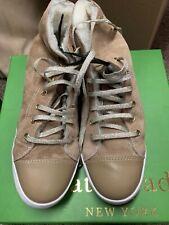 $198 Kate spade Lendal Camel Shearling Calf Sneakers Size 7.5 BB 31