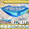 Portable Nylon Hammock Tent With Mosquito Net Double Outdoor Camping Travel Hike