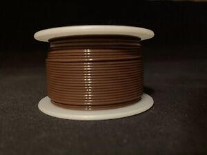 "26 GA. 19 Strand Type ""E"" Teflon Brown MIL16878/4-26  200°C @ 600V 100 ft. spool"