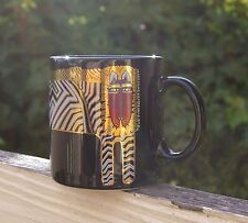 Laurel Burch Coffee Mug Cup Striped Jungle Cat Tiger Lion Black Japan