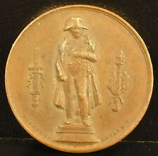 Médaille Napoléon Bonaparte 1833 Domard Seurre Statue colonne de la grande armée