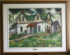 Very LARGE-25x34- OIL - Old Country House by Ross ROBERTSHAW (1919-1986)