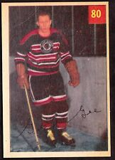 1954-55 PARKHURST #80 GEORGE GEE - CHICAGO BLACKHAWKS  - HOCKEY CARD