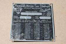 ANTIQUE CAR  PACKARD MOTOR CAR 1948 MODEL 2252     ID IDENTIFICATION TAG BADGE