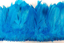 "12"" Nagorie Fringe Dyed - Turquoise 6-8"" Trim Feathers Hats Costume Halloween"