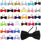 New Boys Kids Childrens Elasticated Pre Tied Satin Bow Ties Bowties Bow Ties
