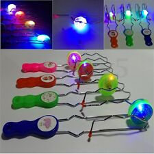 Flashing Light Up Gyro Wheel Magnetic Kinetic Rail Twister Science Children Toy