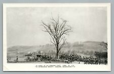 Concord MA Revolutionary War Diorama RPPC Miniature Toy Soldiers—Vintage Photo