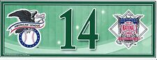 Chip Hale Oakland A's Postseason Wildcard Game Locker Number Plate MLB COA