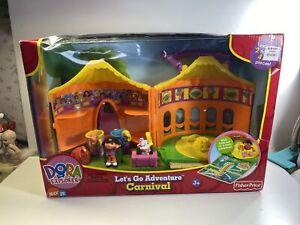 2006 Dora The Explorer Let's Go Adventure Carnival Play set New
