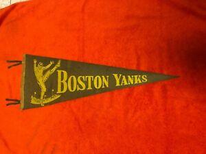 1940's VINTAGE BOSTON YANKS ORIGINAL AAFC FULL SIZE PENNANT  *VERY RARE*