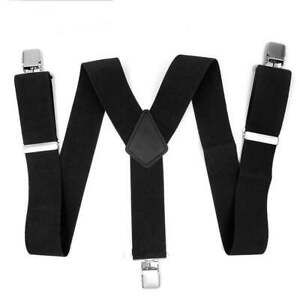 Heavy Duty Y Shape Braces Mens Braces Black