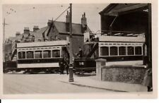 Old Photograph of Two Trams No's 15 @ 16 at the Maxton Depot