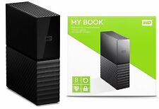 WD Western Digital 8TB MY BOOK Desktop External Hard Drive WDBBGB0080HBK 8 TB