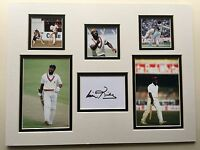"""West Indies Cricket Viv Richards Signed 16"""" X 12"""" Double Mounted Display"""