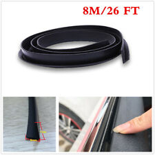 8M V-Shape Rubber Car Door Window Glass Seal Weather Strip Fix Abnormal Sound