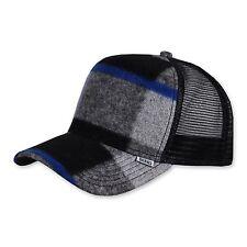 Djinns felt check (Black) Trucker Cap-Caps Berretto Cappuccio meshcap Basecap Nero