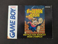 Notice Boulder Dash GameBoy DMG-BD-FAH
